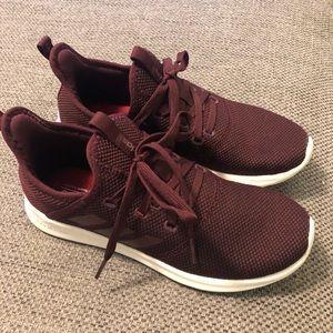 Burgundy Adidas Cloud Foam Shoes